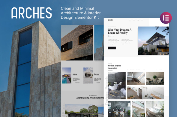 [Free Download] Arches – Minimal Architecture & Interior Design Elementor Template Kit (Nulled) [Latest Version]