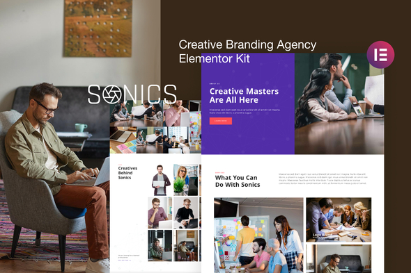 [Free Download] Sonics – Creative Branding Agency Elementor Template Kit (Nulled) [Latest Version]