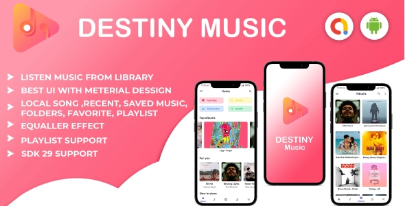 [Free Download] Android- Destiny music player with Ad-mob ads integration (Nulled) [Latest Version]