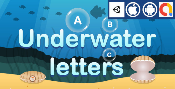 [Free Download] Underwater Letters Unity Kids Educational Game With Admob ad for Android and iOS (Nulled) [Latest Version]