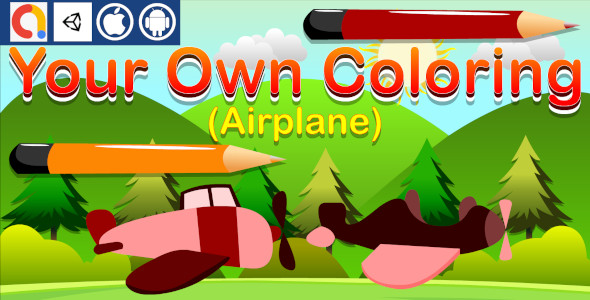 [Free Download] Your Own Coloring – Airplane Unity Kids Game With Admob for Android And iOS (Nulled) [Latest Version]