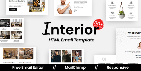 [Free Download] Interior design – Multipurpose Responsive Email Template (Nulled) [Latest Version]