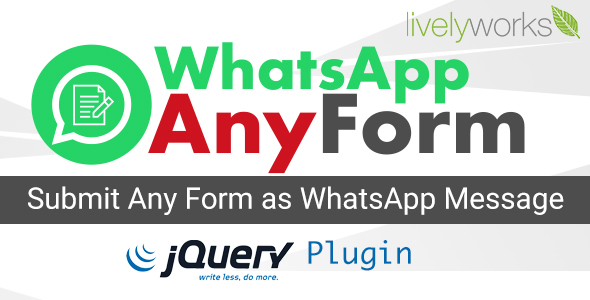 [Free Download] WhatsApp AnyForm – Submit Form as WhatsApp Message | WhatsApp Contact Form – jQuery Plugin (Nulled) [Latest Version]