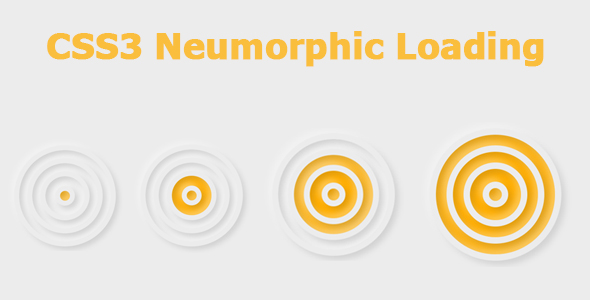 [Free Download] CSS3 Neumorphic Loading (Nulled) [Latest Version]