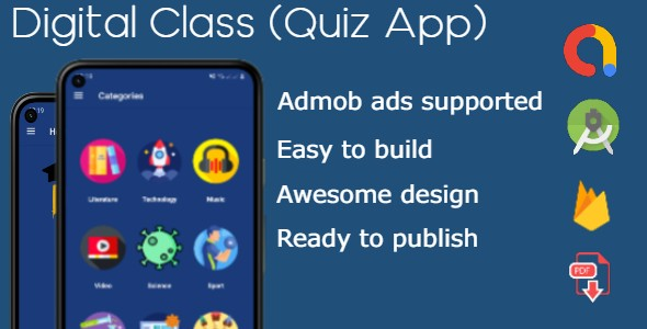 [Free Download] Digital Class Quiz App (Nulled) [Latest Version]
