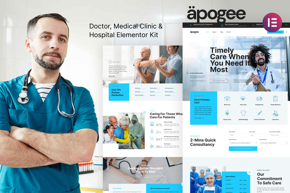 [Free Download] Apogee — Medical Clinic & Hospital Elementor Template Kit (Nulled) [Latest Version]