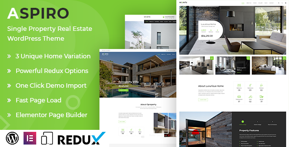 [Free Download] Aspiro | Single Property WordPress Theme (Nulled) [Latest Version]