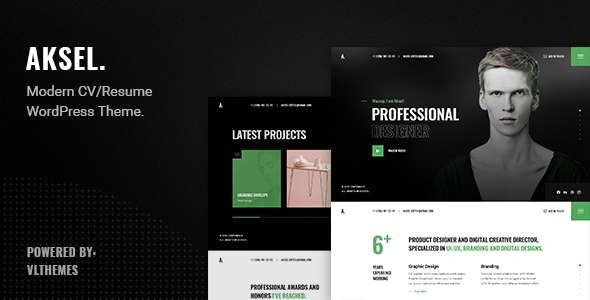 [Free Download] Aksel – Modern & Creative CV/Resume WordPress Theme (Nulled) [Latest Version]