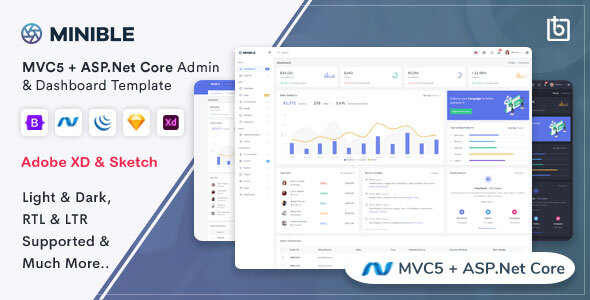 [Free Download] Minible – ASP.Net Core & MVC5 Admin Dashboard Template (Nulled) [Latest Version]