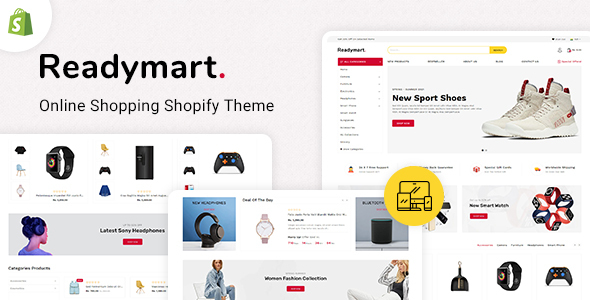 [Free Download] ReadyMart Multipurpose Shopify Responsive Theme (Nulled) [Latest Version]