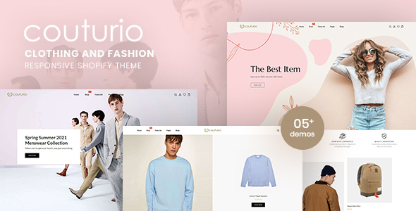 [Free Download] Couturio – Clothing & Fashion Responsive Shopify Theme (Nulled) [Latest Version]