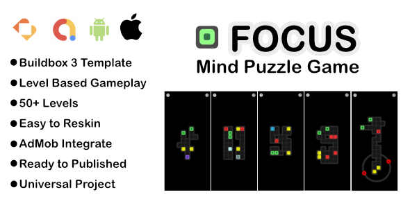 [Free Download] Focus – Mind Puzzle Game I Premium Buildbox Game Template (Nulled) [Latest Version]