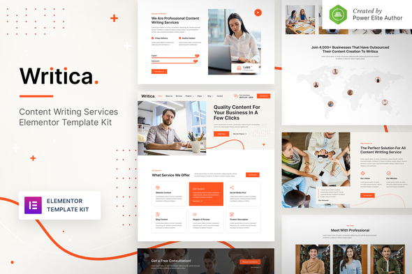 [Free Download] Writica – Content Writing Services Elementor Template Kit (Nulled) [Latest Version]