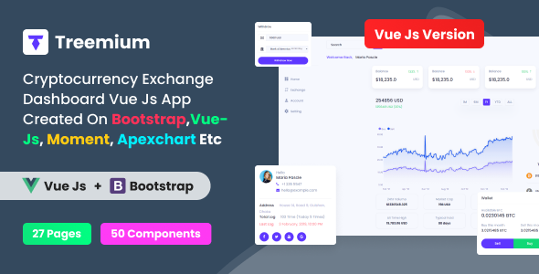 [Free Download] Treemium – Cryptocurrency Exchange Dashboard VUE JS App (Nulled) [Latest Version]