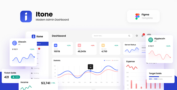[Free Download] Itone – Modern Admin Dashboard Template Figma (Nulled) [Latest Version]
