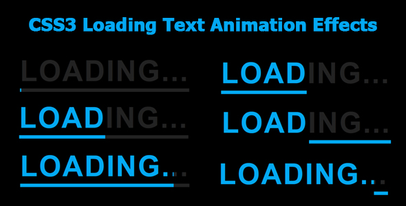 [Free Download] CSS3 Loading Text Animation Effects (Nulled) [Latest Version]