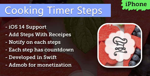[Free Download] Cooking Timer Steps iPhone App (Nulled) [Latest Version]