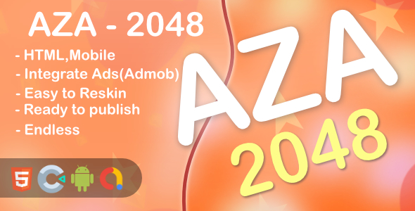 [Free Download] AZA – 2048 Game(Html5 + Construct 3 +Mobile) (Nulled) [Latest Version]