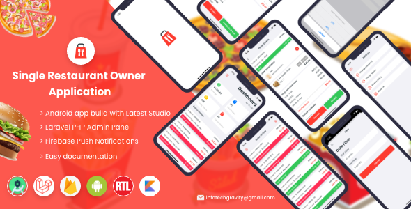 [Free Download] Single Restaurant Food Ordering System – Android Owner App (Nulled) [Latest Version]