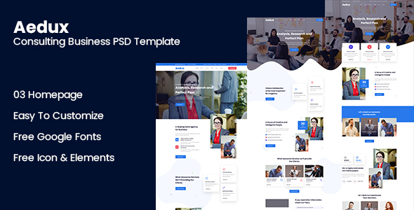 [Free Download] Aedux Consulting Business PSD Template (Nulled) [Latest Version]