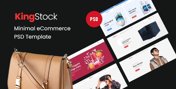 [Free Download] KingStock – Minimal eCommerce PSD Template (Nulled) [Latest Version]