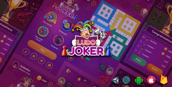 [Free Download] Ludo Joker With Online Multiplayers Real Money Game(Android + IOS) (Nulled) [Latest Version]