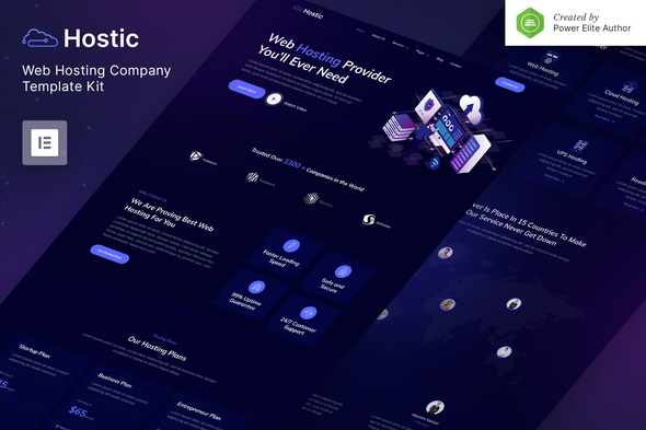 [Free Download] Hostic – Web Hosting Company Elementor Template Kit (Nulled) [Latest Version]