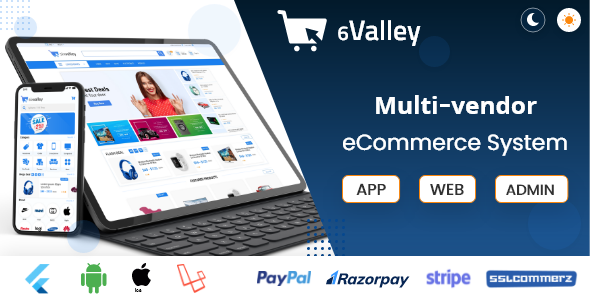 [Free Download] 6valley Multi-Vendor E-commerce – Complete eCommerce Mobile App, Web and Admin Panel (Nulled) [Latest Version]