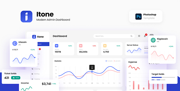 [Free Download] Itone – Modern and Dynamic Admin Dashboard Template PSD (Nulled) [Latest Version]
