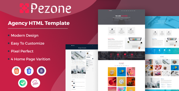 [Free Download] Pezone- Creative Agency HTML Template (Nulled) [Latest Version]