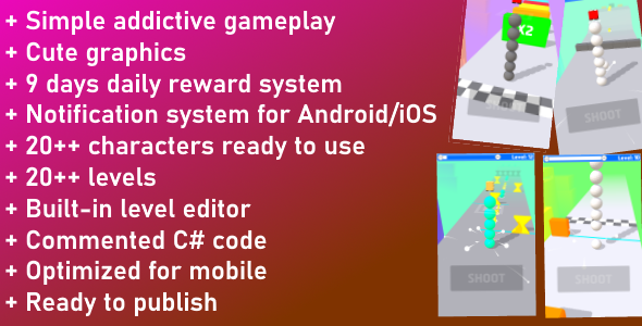 [Free Download] Unity Game Template – Shooty Race (Nulled) [Latest Version]