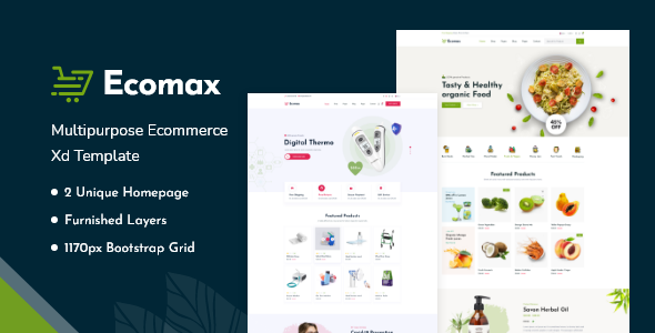 [Free Download] Ecomax – Multipurpose eCommerce Xd Template (Nulled) [Latest Version]