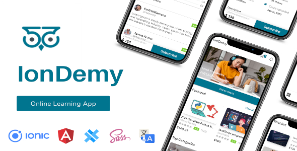 [Free Download] IonDemy | Ionic 5 | Online Learning App Template (Nulled) [Latest Version]
