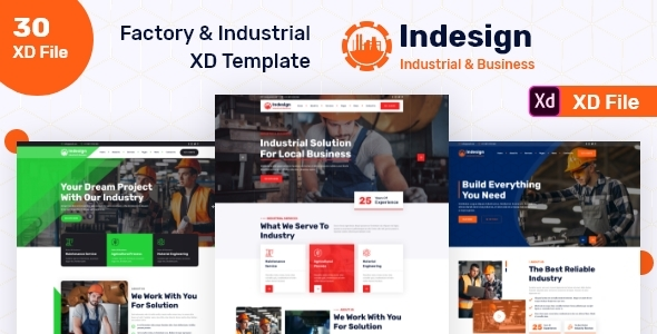 [Free Download] Factory & Industrial XD Template (Nulled) [Latest Version]