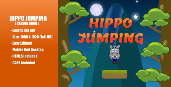 [Free Download] Hippo Jumping   Construct 2 (Nulled) [Latest Version]