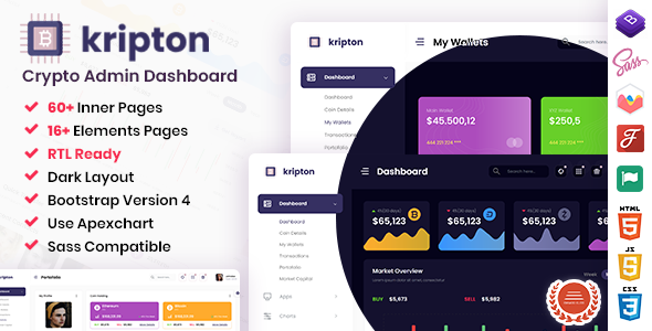 [Free Download] Kripton – Crypto HTML, React & Laravel Admin Dashboard Template + RTL Ready (Nulled) [Latest Version]