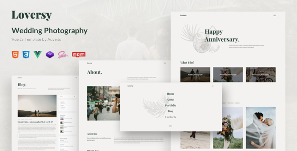 [Free Download] Loversy – Wedding Photography Vue JS Template (Nulled) [Latest Version]