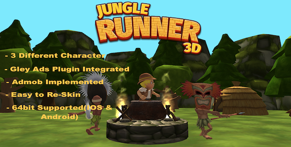 [Free Download] Jungle Runner 3D game 2021 –  Complete Unity Template (Nulled) [Latest Version]