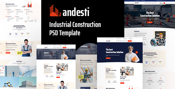 [Free Download] Andesti – Industrial  PSD Template (Nulled) [Latest Version]