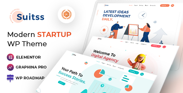 [Free Download] Suitss | Startup Business WordPress theme (Nulled) [Latest Version]