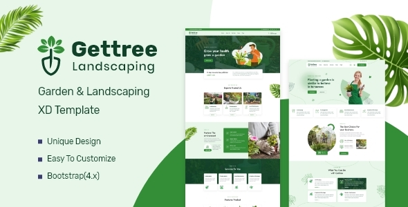 [Free Download] Gettree – Garden & Landscaping XD Template (Nulled) [Latest Version]