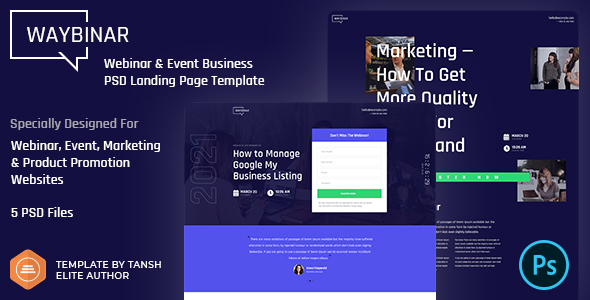 [Free Download] Waybinar – Webinar & Event Business PSD Landing Page Template (Nulled) [Latest Version]