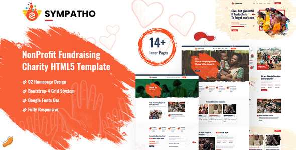 [Free Download] Sympatho – Non Profit & Charity HTML5 Template (Nulled) [Latest Version]