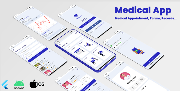 [Free Download] Medical App – Flutter UI Kit | Appointment, Medical Records & Forums | Android | IOS (Nulled) [Latest Version]
