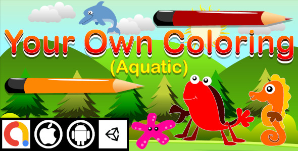 [Free Download] Edukida – Your Own Coloring Aquatic Unity Kids Game For Android and iOS (Nulled) [Latest Version]