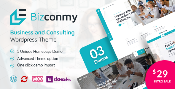 [Free Download] Bizconmy – Business and Consulting WordPress Theme (Nulled) [Latest Version]