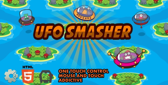 [Free Download] UFO Smasher – Construct 2 Html5 Game (Nulled) [Latest Version]