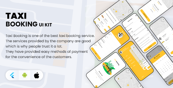 [Free Download] Flutter Taxi Booking App UI KIT (Nulled) [Latest Version]
