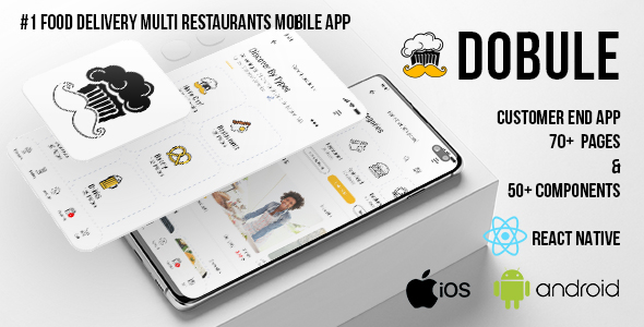 [Free Download] Dobule – Food Delivery App for iOS & Android (Nulled) [Latest Version]