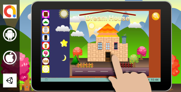 [Free Download] Edukida – Dream House Unity Kids Game With Admob For Android and iOS (Nulled) [Latest Version]